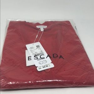 Escada red sweater brand new 100% Authentic